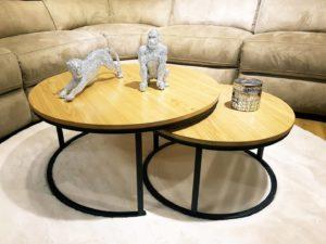שולחן סלון עגול סט דגם Z6