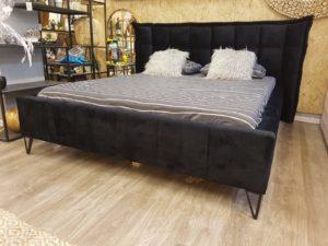 מיטה שחורה מעוצבת דגם דמקה
