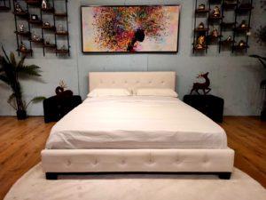 מיטה זוגית במבצע דגם נעה צבע לבן