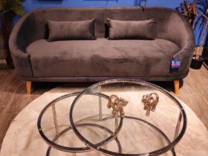 ספה מעוצבת צבע אפור