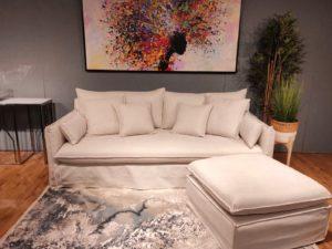 ספה עם הדום דגם חצאית