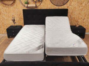 מיטה מתכווננת עם מזרני לטקס