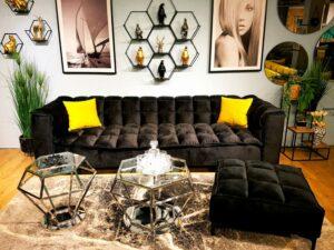 ספה והדום דגם קוביות